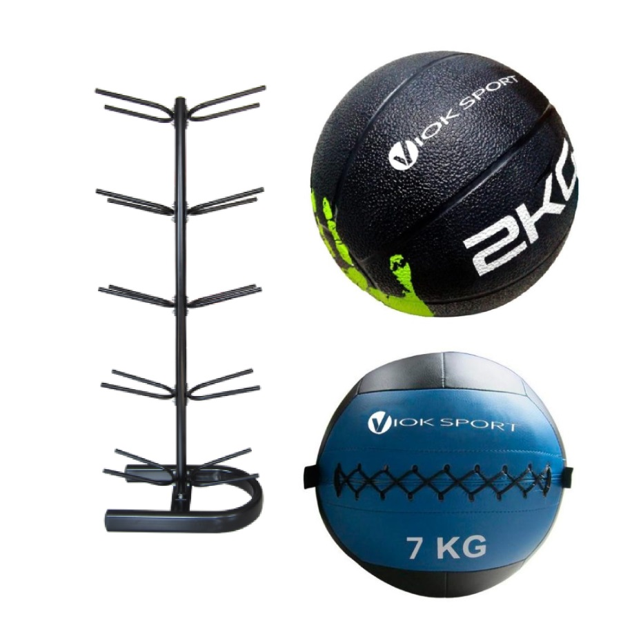 Pack rack de balones medinales