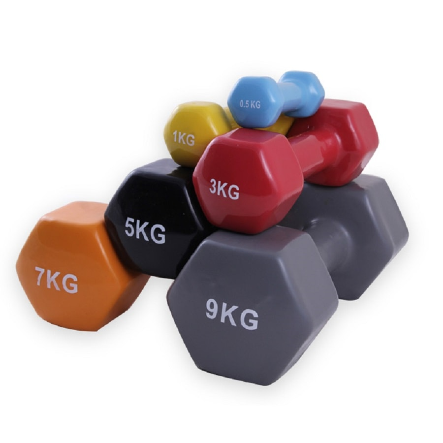 Mini mancuernas de colores