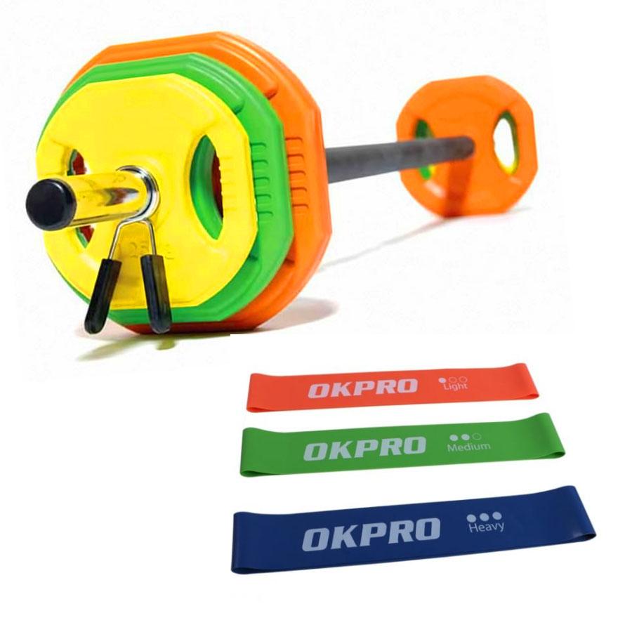 Set de pesas Body Pump y mini bandas